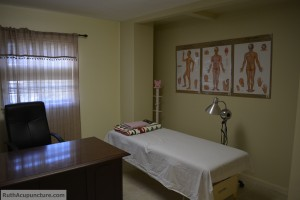 Auricular Medicine center Acupuncture patient massage room