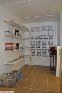 Auricular Medicine center office herb storage room