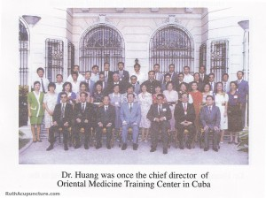 Dr Li Chun Huang was once the chief director of auricular medicine center in Cuba