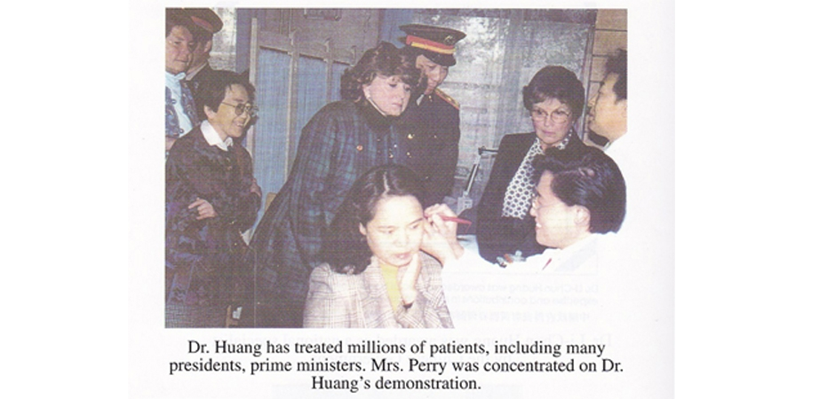 Dr Li Chun Huang has treated many president and prime ministers around the world