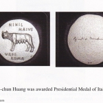 Dr Li chun Huang was awarded the presidential medal of Italy